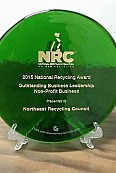 National Recycling Coaltion Environmental Leadership Award 2015