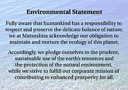 Panasonic environmental statement