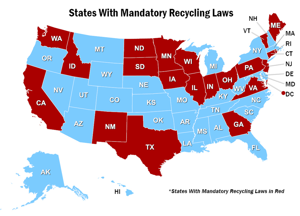 NERC Map of Recycling Laws
